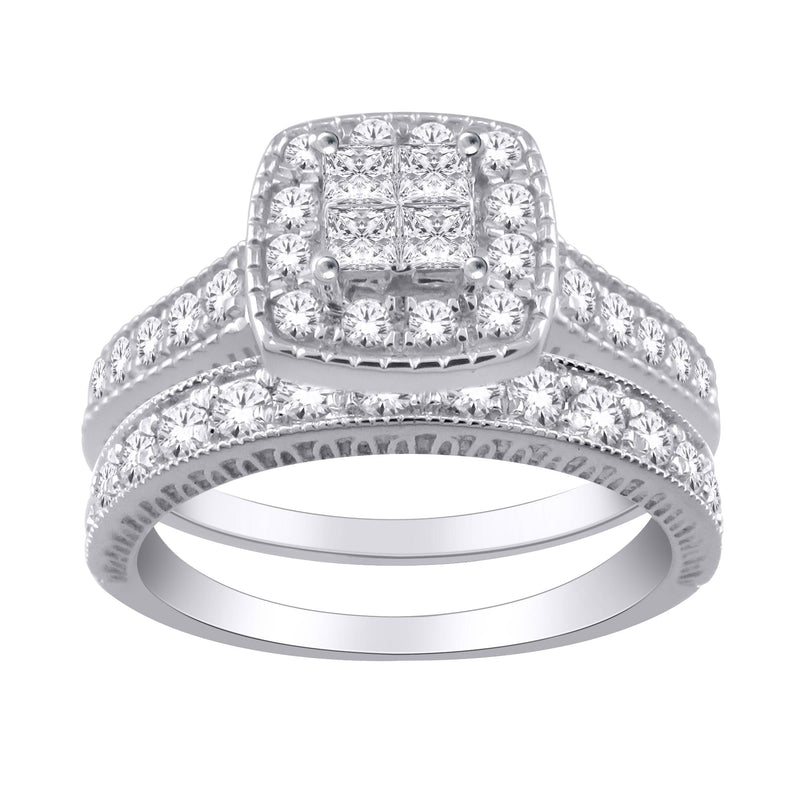 0.50ct TW Diamonds Engagement & Wedding Ring Set in 10ct White Gold