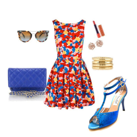 commeilfaut red dress look outfit