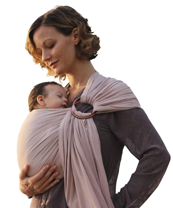 Slimlaw-Extra-Soft Bamboo & Linen Fabric Luxury Ring Sling Baby Carrier