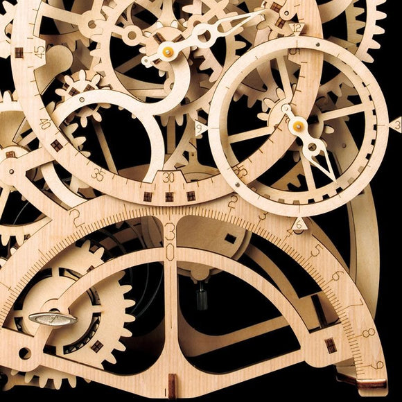 Wooden 3D Clock Assembly
