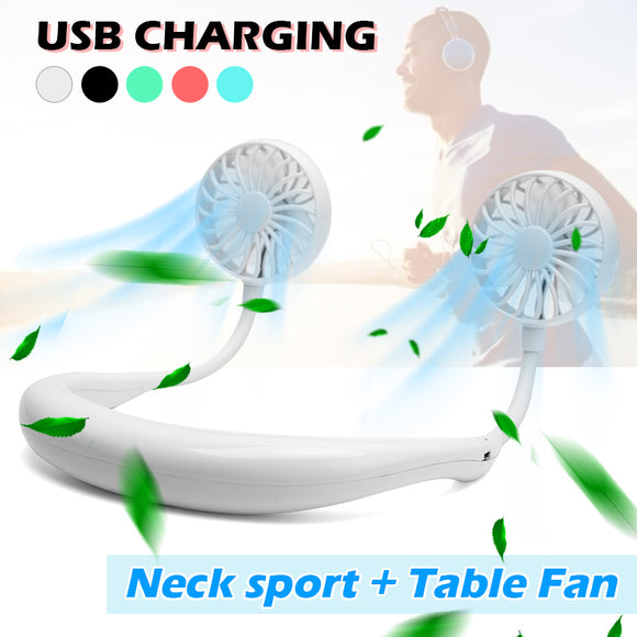 Portable Hanging Neck Mini USB Charging Sports Fan