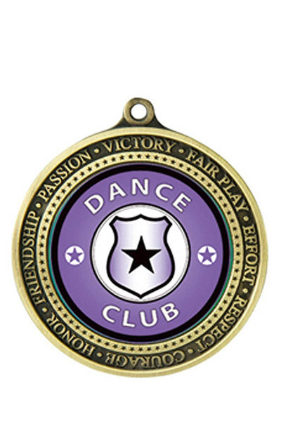 Supreme Medal Values Dance Medal - Avail in Gold, Silver & Bronze