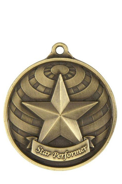 Star Performer Medal - Avail in Gold, Silver & Bronze