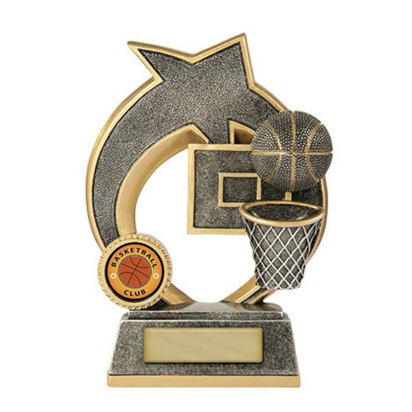 SWOOSH Basketball Trophies 155mm [609/7C] - Engrave Works