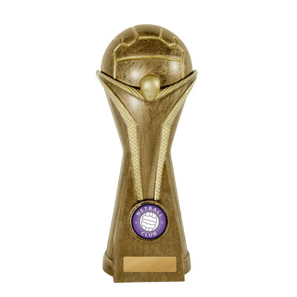 VICTORY ANGEL SERIES Netball Trophies Bronze - Avail in 2 Sizes