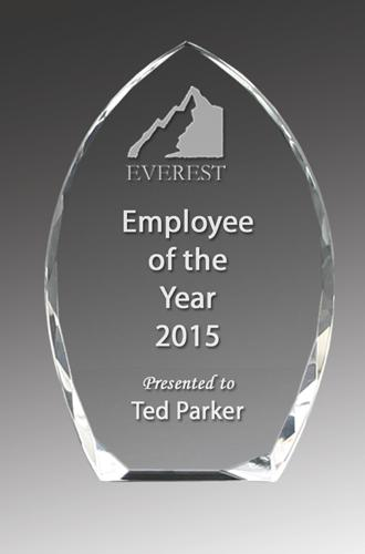 Crystal Clear Arch Corporate Award - Avail in 3 sizes trophies and awards Engrave Works