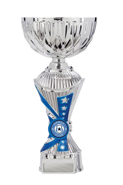 New Alpha Click-Connect Cups Dance Trophies - Blue - Avail in 6 sizes