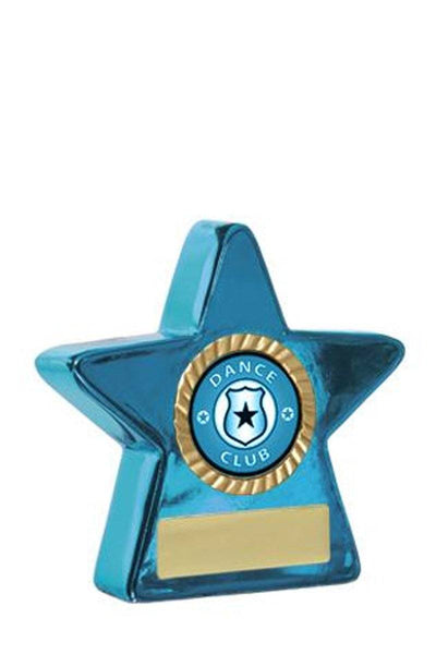 Metallic Star Dance Trophies - Blue - Avail in 2 sizes