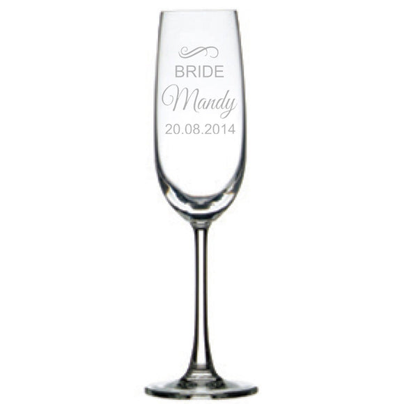 Engraved Champagne Glasses Personalised Glasses Engrave Works