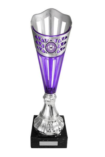 Pizzazz Cup Dance Trophies - Purple - Avail in 6 sizes