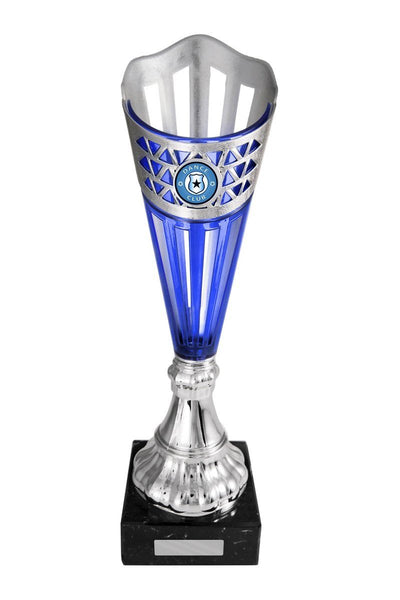 Pizzazz Cup Dance Trophies - Blue - Avail in 6 sizes
