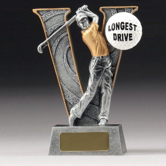 LONGEST DRIVE V SERIES Golf Trophy 150mm