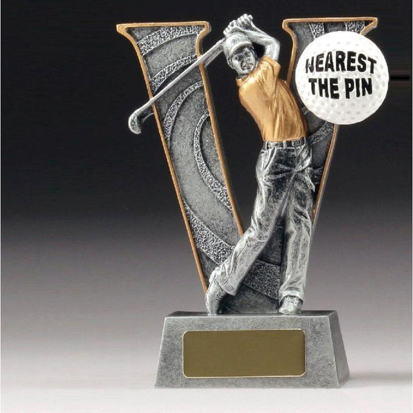 NEAREST THE PIN V SERIES Golf Trophy 150mm