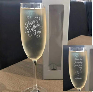 Personalised Bohemia Crystal Champagne Glass Gift