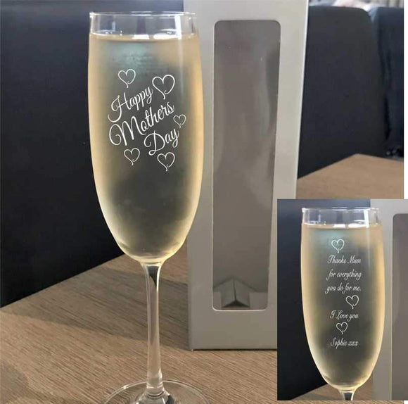 Personalised Bohemia Crystal Champagne Glass Gift Bohemia Crystal Glassware Engrave Works