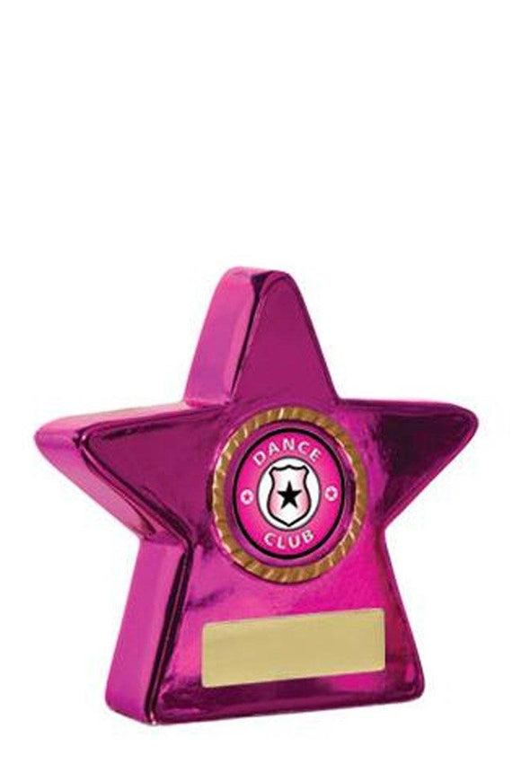 Metallic Star Dance Trophies - Pink - Avail in 2 sizes