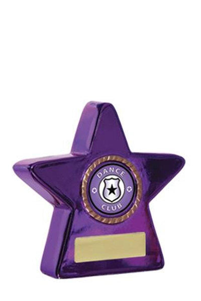 Metallic Star Dance Trophies - Purple - Avail in 2 sizes