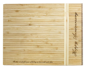 Engraved Bamboo Wood Patterned Board Engrave Works