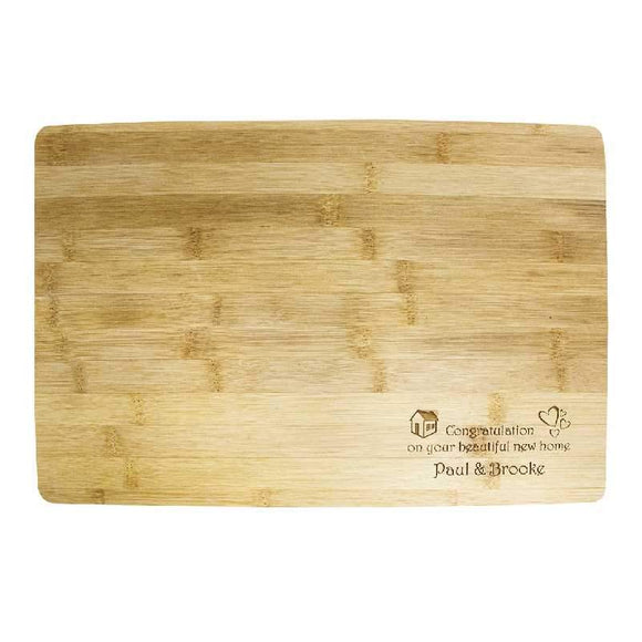 Engraved Bamboo Wood Message Board