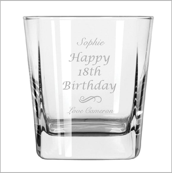 Birthday Engraved Spirit Glass Engrave Works Classic