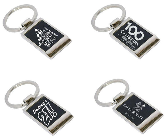 Personalised Gifts - Metal Key Rings Engraved