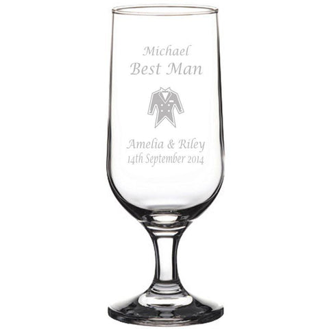 Personalised Glasses - Engraved Beer Glass Goblets 345ml