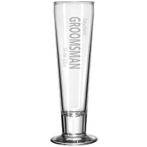 Personalised Glasses - Engraved Beer Pilsner Glasses 420ml
