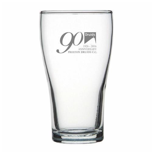 Personalised Glasses - Engraved Conical Beer Glasses 425ml