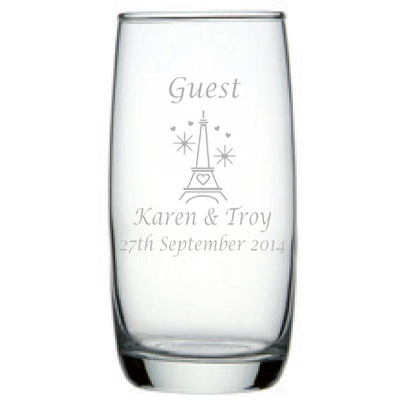 Personalised Glasses - Engraved Hi Ball Glass Tumblers