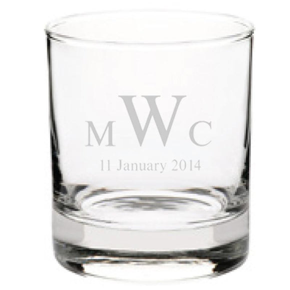 Personalised Glasses - Engraved Tumbler Glasses