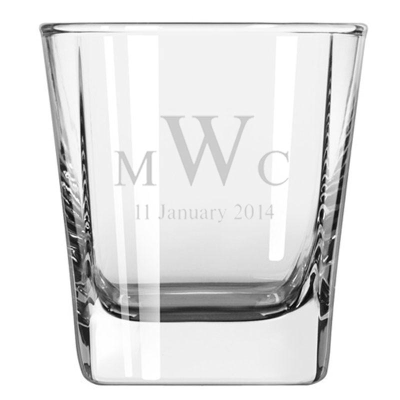 Engraved Whiskey Quartet Glasses