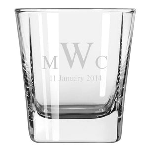 Personalised Glasses - Engraved Whiskey Quartet Glasses