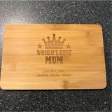 Personalised Mother's Day Wood Chopping Board Engrave Works