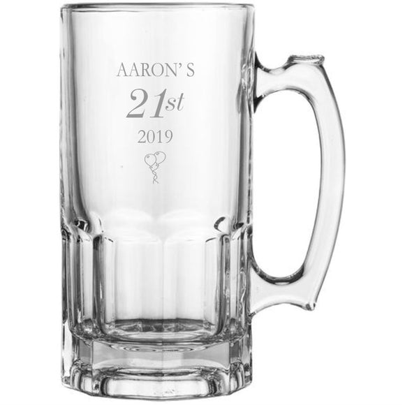 Engraved Super Beer Mug Glasses 1lt Personalised Glasses Engrave Works