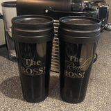The Boss and Real Boss Travel Mugs