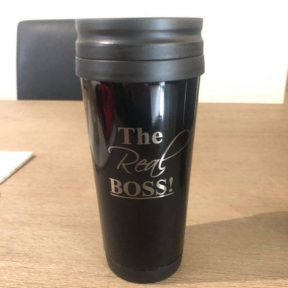 Personalised Black Travel Mug 410ml