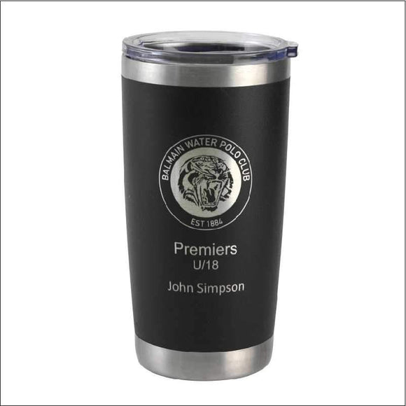 Personalised Travel Mug Tumbler Black 590ml Engrave Works Black