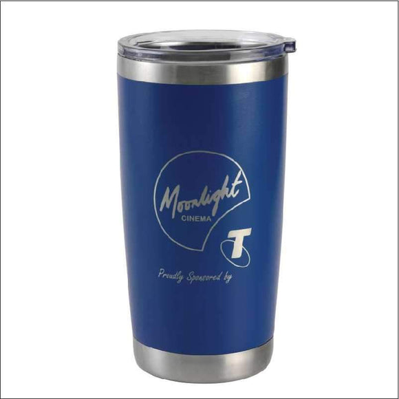 Personalised Travel Mug Tumbler Blue 590ml Engrave Works Navy Blue