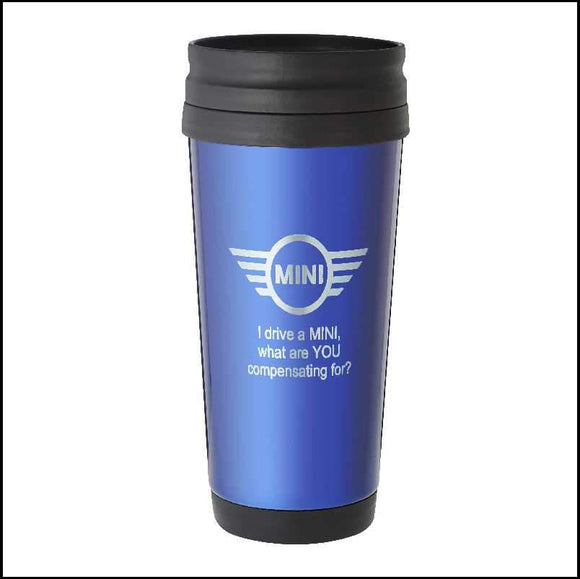 Personalised Blue Travel Mug 410ml Engrave Works