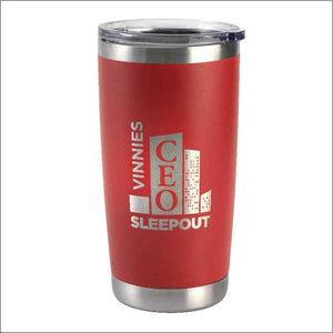Personalised Travel Mug Tumbler Red 590ml Engrave Works Red