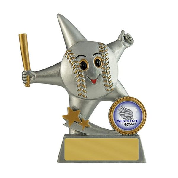 Trophies And Awards - LITTLE STAR Baseball/Softball Trophy 130mm