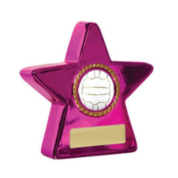Trophies And Awards - METALLIC STARS Netball Trophies - Avail In 4 Sizes