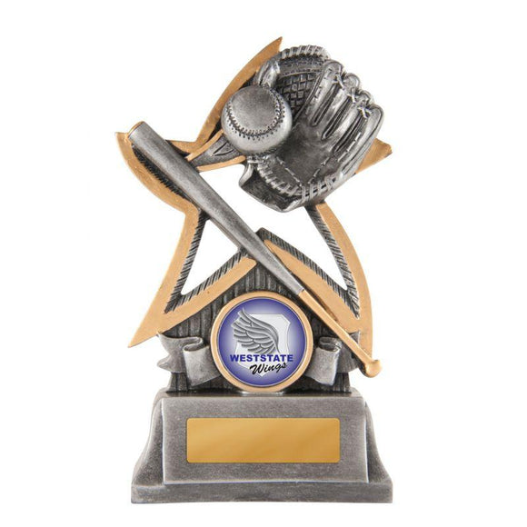 Trophies And Awards - SILVER STAR SERIES Baseball/Softball Trophies