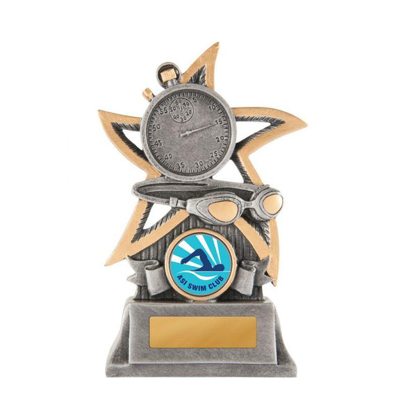 Trophies And Awards - SILVER STAR SERIES Swimming Trophies - Avail In 3 Sizes
