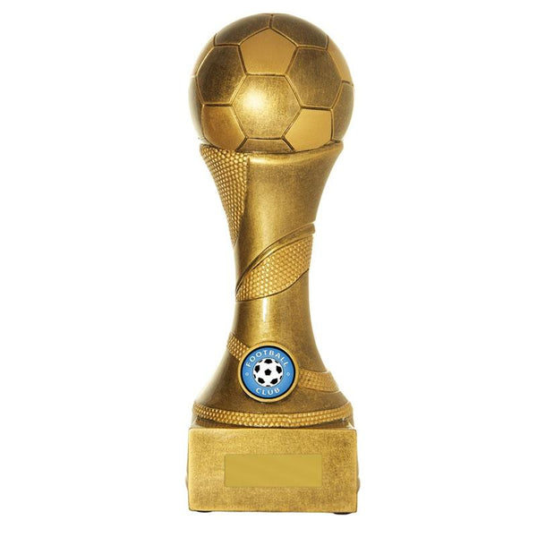 Trophies And Awards - TRIUMPH SERIES FOOTBALL STAND - GOLD Football - Soccer Trophies 250mm [725G/9E]