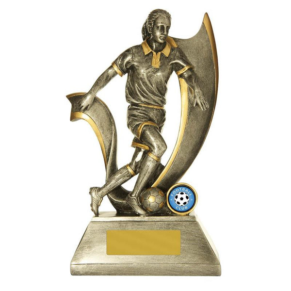 Trophies And Awards - VELOCITY (FEMALE) Football - Soccer Trophies 250mm [727/9FF]