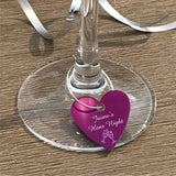 Personalised Wine Charms Engraved Personalised Glasses Engrave Works