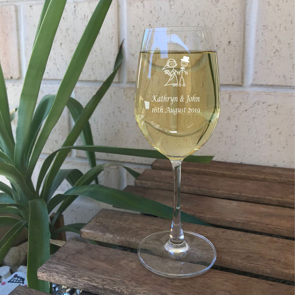 Engraved Wine Glasses Personalised Glasses Engrave Works