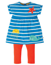 Load image into Gallery viewer, Olive Outfit - Motosu Blue Stripe/Sealife