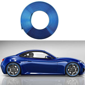 Plated Wheel Bumper Protection Ring Trim